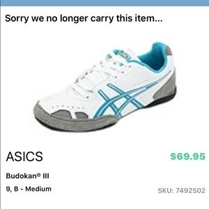 Asics Women's White Gray + Teal Athletic Shoes